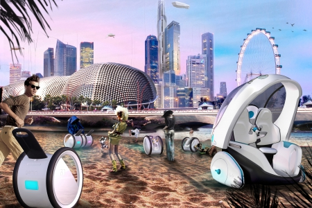 Gemini future mobility concept car for the metropolitan area of singapore