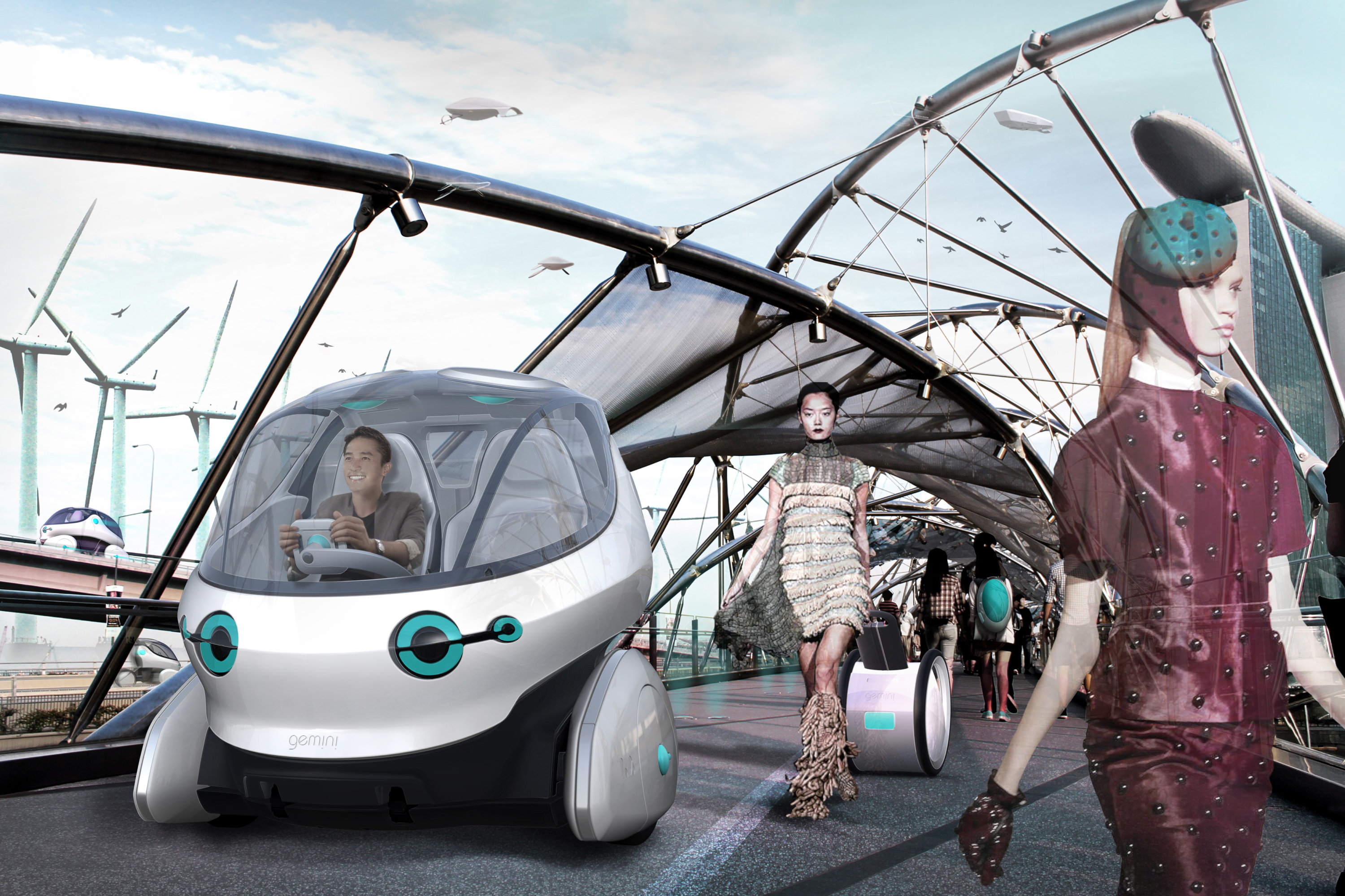 Gemini future mobility concept car for the metropolitan area of singapore