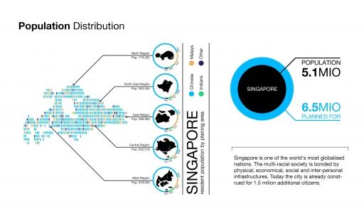 singapore population distribution 2010