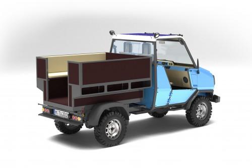 aCar rendering schräg hinten transport