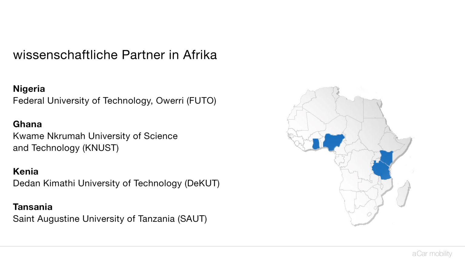 aCar Partner in Afrika
