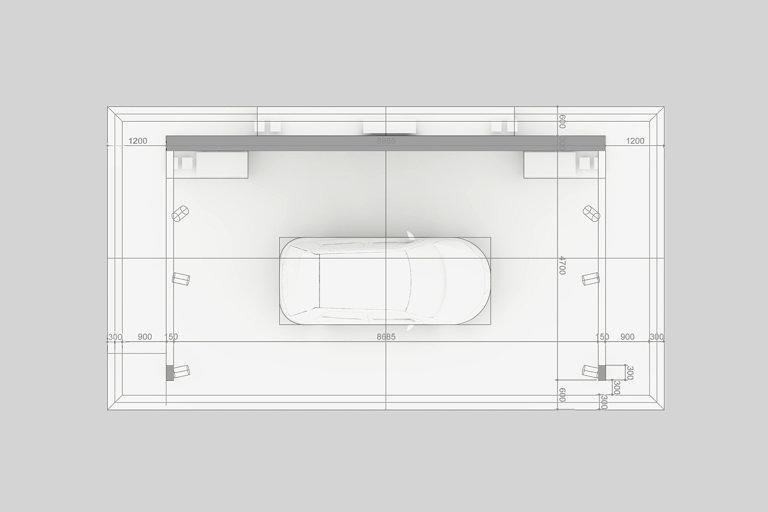 EVA exhibition stand rendering top